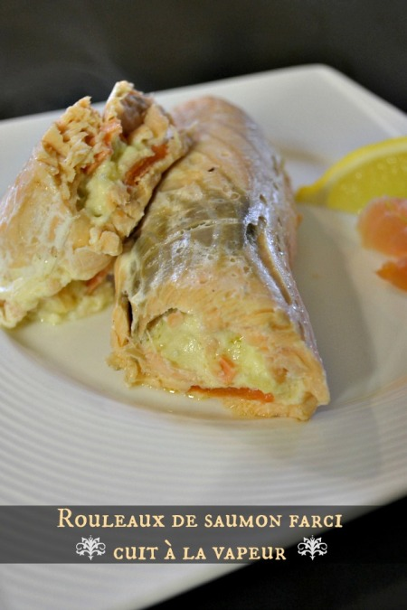 Degustation rouleaux saumon farci saumon fume
