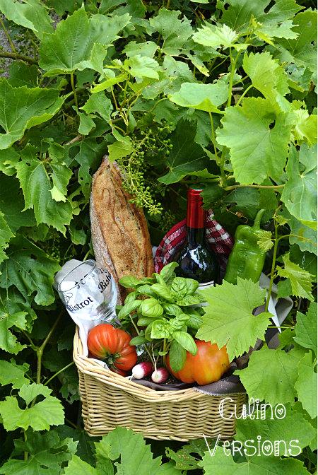 Culino Versions panier pique nique vigne