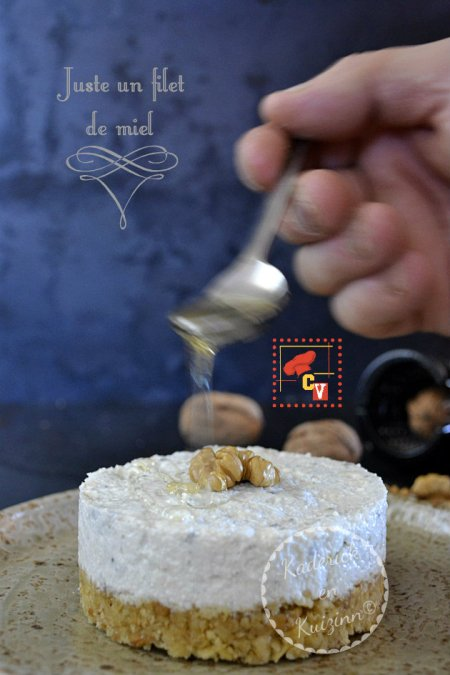 Presentation-cheesecake-roquefort-noix-miel-logo-Culino-Versions