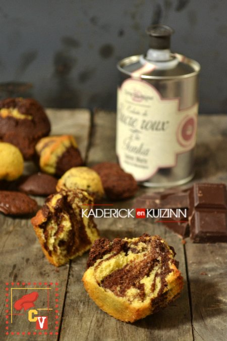 Degustation-madeleines-tigrees-chocolat-forme-muffins-Culino-Versions