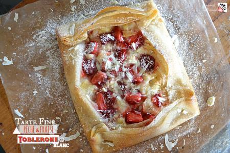 recette tarte peche fraises toblerone blanc