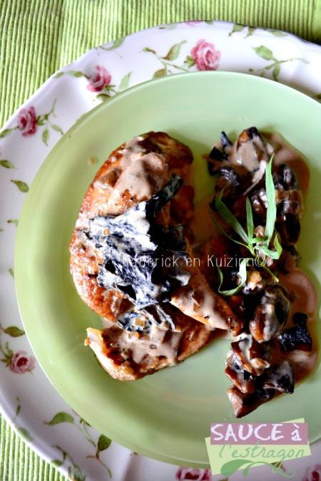 Degustation aiguillette poulet trompettes mort sauce estragon - kaderick en kuizinn©