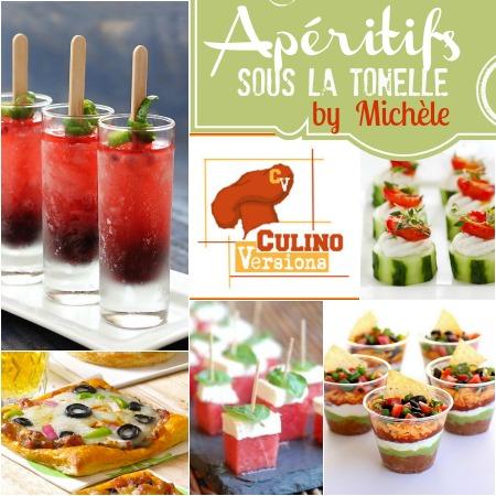 Logo theme aperitifs sous tonnelle Michele Culino Versions