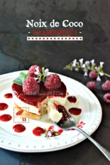Culino Versions panna cotta noix coco cookies framboises