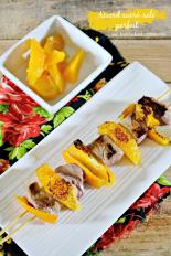 Plancha-brochette-sucre-sale-canard-segments-orange